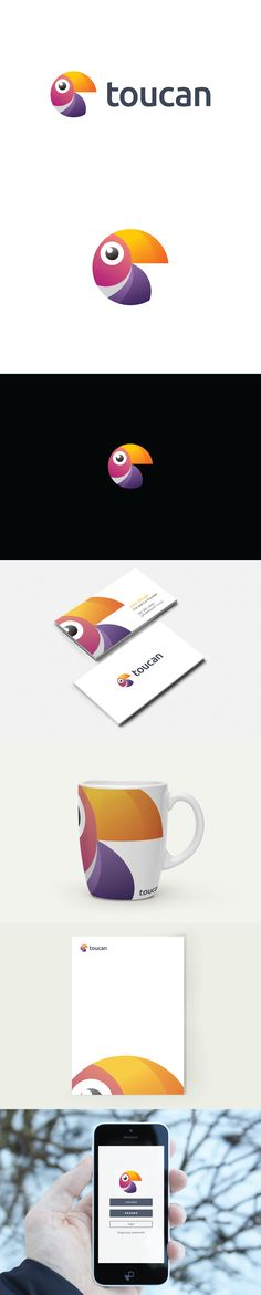 Branding for an up and coming telecoms company. #Toucan #ToucanLogo #ModernLogo