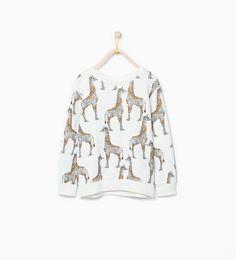 Giraffes sweatshirt - Sweatshirts - Girl (3 - 14 years) - KIDS | ZARA United Kingdom