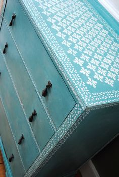 Chalk Painted Chest of Drawers by NicoletteTabram on Etsy, $380.00
