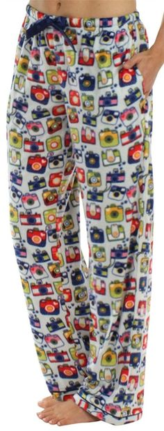 Buy Frankie & Johnny Women's Ultra-Soft Fleece Relaxed Fit Pajama PJ Pants - Cameras - and shop more latest Women's Sleepwear all over the world. Fleece Pajamas, Pyjamas, Clothes For Sale, Clothes For Women, Frankie And Johnny, Pj Pants, All Fashion, Style Fashion, Pajama Bottoms