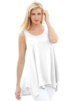 Plus Size Tunic Top with Sharktail