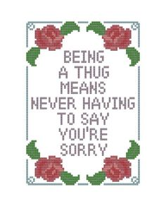 cross stitch pattern Quote from Weeds: A Thug by pickleladyfarm