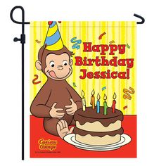 Curious George Happy Birthday Yard Sign from PBS Kids Shop