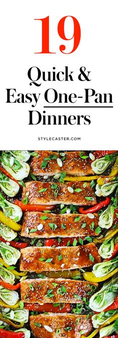 19 Quick & Easy One-Pan Dinner Recipes | Toss everything on a single sheet pan and pop it in the oven! | @stylecaster