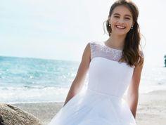 LILLY Konfirmationskjoler 2016 - Lookbook White Dress, Wedding, Dresses, Fashion, Long Dresses, Curve Dresses, Valentines Day Weddings, Vestidos, Moda