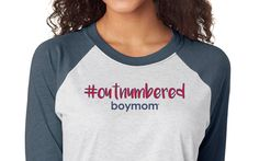 Outnumbered boy mom shirt