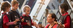 Children greeting the karetao (traditional Māori puppet). 2015. Photograph by Kate Whitley. Te Papa