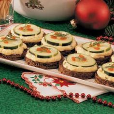Progressive Christmas Tea Party: Cucumber Rounds