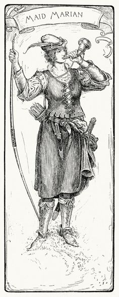 oldbookillustrations:  Maid Marian. Louis Rhead, from Bold Robin Hood and his outlaw band, New York, London, 1912. (Source: archive.org)