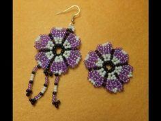 DUP           Video: DIY. Flor de bolitas, para pendientes, anillos, pulseras. - Floral component. #Seed #Bead #Tutorials