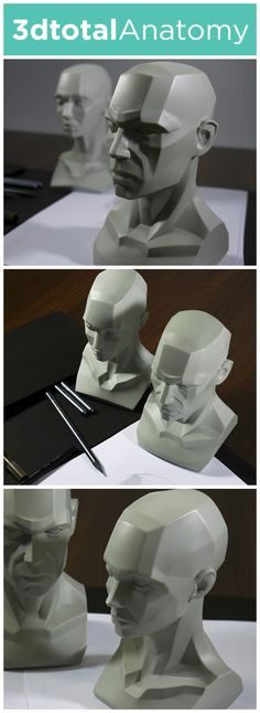 Prototype planar anatomy reference heads for artists - now on Kickstarter!