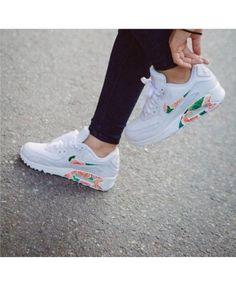 Chaussure Nike Air Max 90 Floral Blanche Vert Rose