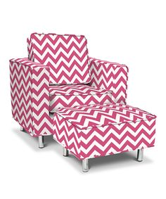 pink chevrons toddler chair