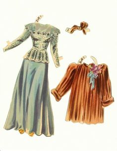 Hedy Lamarr paper doll clothing