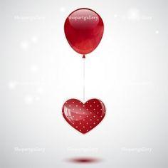 Balloon and heart © Mira Bavutti