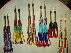 African Maasai Masai Handmade Beaded Earrings tutorial - Google Search Seed Bead Earrings, Beaded Earrings, Seed Beads, Beaded Jewelry, African Beads, African Jewelry, Bijoux Masai, Handcrafted Jewelry, Handmade