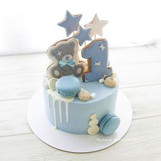 L'immagine può contenere: cibo Toddler Birthday Cakes, Baby First Birthday Cake, Deco Baby Shower, Baby Shower Cakes, Baby Boy Cakes, Cakes For Boys, Cake Cookies, Cupcake Cakes, Cake Toppers