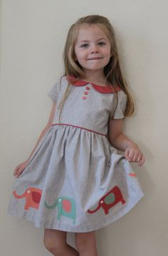 Digital DRESS PATTERN FOR GIRLS-- THE VINTAGE KATE DRESS -pattern includes 5 SIZES -TO FIT GIRLS AGES: 2,3,4,5 and 6 ***NOTE***THERE ARE