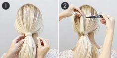 Pull-Through with a Stacked Braid: Steps 1-2