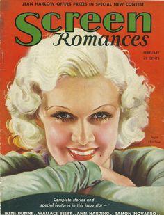 "Jean Harlow ~ ""Screen Romances"" magazine"