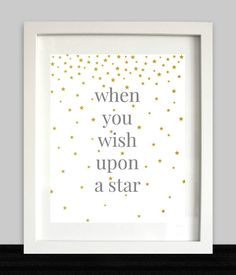 When You Wish Upon A Star Print // Nursery Art // by NothingPanda