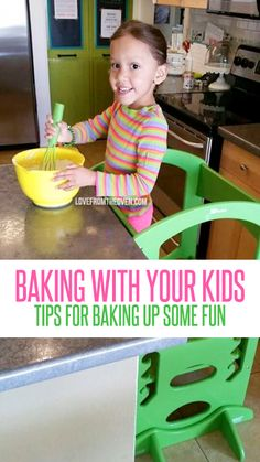 Tips for baking with your kids. Great advice for getting the kids in the kitchen and making it easy and enjoyable for little hands.