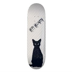 Halloween Black Cat Silhouette Skateboard - diy cyo customize create your own personalize