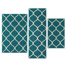 Kitchen Rugs Set, Maples Rugs [Made in USA][Rebecca] 3 Piece Sets Non Slip Padded Small Area Rugs for Living Room, Entryway, and Bedroom - Teal/Sand #Kitchen #Rugs #Set, #Maples #[Made #USA][Rebecca] #Piece #Sets #Slip #Padded #Small #Area #Living #Room, #Entryway, #Bedroom #Teal/Sand