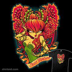Super LikeLikes: Toxic Rapture Tshirt Print Design by Jehsee Evvi Art, Twisted Disney, Gothic Art, Poison Ivy, Monster, Up Girl, Dark Art, Female Art, Fantasy Art