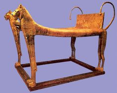 Funerary bed in the form of cheetahs (Tut)