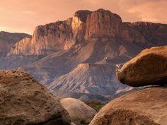 Guadalupe Peak, el Capitan, Guadalupe Mountains National Park, Texas Lámina fotográfica
