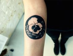 Black and white flower tattoo - Originally posted by nonsense-poem This one I don't mind having tattooed on me right now at the same spot. I like the simplicity and the beauty of just the black and white colors and a little bit of grey. #TattooModels #tattoo