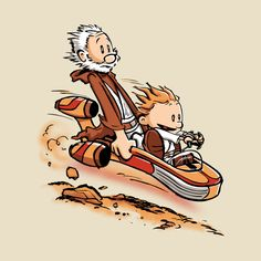 Calvin & Hobbes Star Wars - Created by David Kopet All designs on sale at David's TeePublic Shop as T-shirts, prints, and cases, starting at $13. Check out more of our favorite designs on sale at the Pixalry Merch Store.