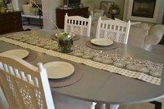 Image result for before and after pictures of painted dining room tables