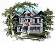 Eplans Queen Anne House Plan - Loft With Balcony - 3435 Square Feet and 3 Bedrooms from Eplans - House Plan Code HWEPL09804
