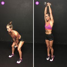Wood chop jump http://www.womenshealthmag.com/fitness/tabata-workout-dumbbells/slide/4