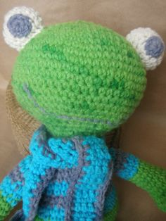 Handmade Crochet Teddy Toad Toy for any age by TwistedEweStudio