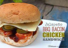 Jalapeno BBQ Bacon Chicken Sandwich; www.makeoversandmotherhood.com