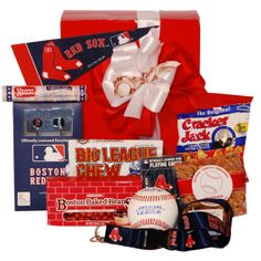 Boston Red Sox Gift Basket Themed Gift Baskets, Raffle Baskets, Diy Gift Baskets,