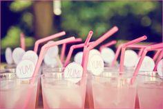 pink lemonade + pink straws