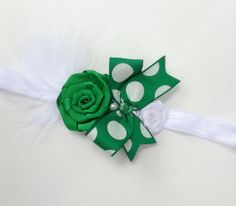 St Patricks Day Green headband Baby by ButterflyFaithBoutiq, $11.95