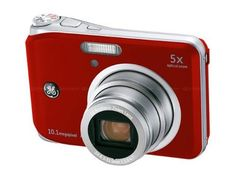 GE A1250-RD 12MP Digital Camera with 5X Optical Zoom and 2.5 Inch LCD with Auto Brightness - Red by GE. $75.98. Looking for a dependable and feature-rich camera for all occasions? The GE A1250 will enlighten your thinking about compact cameras. Packed inside the compact body is an outstanding 12-megapixel sensor fronted with a 5X optical zoom lens for pictures with finest detail taken from afar to close-up. With the intelligent LCD and intuitive layout, reviewing and editing p...