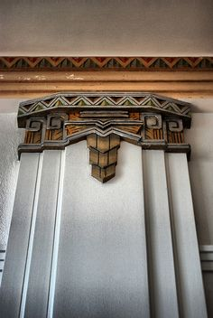 Art deco work inside of Charles Page Museum in Sand Springs Oklahoma. Many of my years of my childhood were spent in the library in Sand Springs. It was a wonderful place to go. You could let your imagination soar! :)