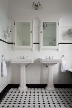 BATHROOM: Just And Example Of Lights Over The Mirrors Perrin U0026 Rowe Art  Deco Bathroom Feat. Twin Art Deco Pedestal Basins And Accessories