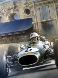 Lotus 49 art ; By NZ artist Don Packwood