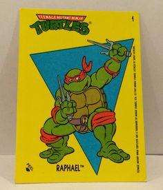 1989 Teenage Mutant NINJA TURTLES Sticker Trading Card - TripleGCollectibles, $1.25