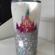 Disney Castle Glitter Tumbler Glitter Tumbler Diffrent | Etsy Glitter Tumblers, Glitter Cups, Disney Mugs, Yeti Cup, Gift Exchange, All That Glitters, Tumbler Cups, Resin Crafts, Tutu