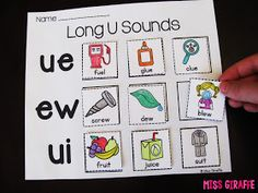 EW UE UI is a difficult phonics sound to teach so I wanted to show you guys some fun activities you can use for this set of long U vowel pai...