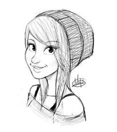 Girl Pencil Draft #draft #girl #character #sketch