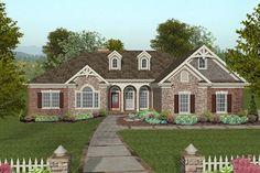 Craftsman Style House Plan - 4 Beds 2.50 Baths 2000 Sq/Ft Plan #56-576 Exterior - Front Elevation - Houseplans.com